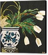 White Tulips Canvas Print by Lynda K Boardman