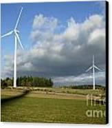 Windturbines Canvas Print