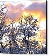 Wintry Sunset Canvas Print by Will Borden