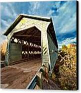 Wooden Covered Bridge  Canvas Print
