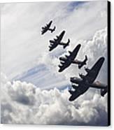 World War Two British Vintage Flight Formation Canvas Print by Matthew Gibson