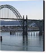 Yaquina Bay Bridge - Newport Oregon Canvas Print by Daniel Hagerman