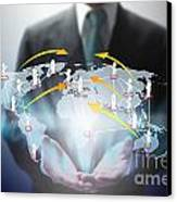 Business Abstract Canvas Print by Atiketta Sangasaeng