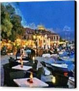 Molyvos Town In Lesvos Island Canvas Print by George Atsametakis