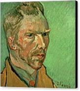 Self Portrait Canvas Print by Vincent Van Gogh