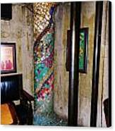 Mosaic Pillar Canvas Print by Charles Lucas
