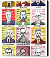12 Russian Composers Canvas Print by Paul Helm