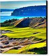 #14 At Chambers Bay Golf Course - Location Of The 2015 U.s. Open Tournament Canvas Print