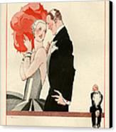 1920s France La Vie Parisienne Magazine Canvas Print