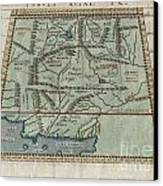 1597 Ptolemy  Magini  Keschedt Map Of Pakistan Iran And Afghanistan Canvas Print by Paul Fearn