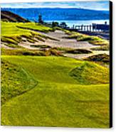 #16 At Chambers Bay Golf Course - Location Of The 2015 U.s. Open Championship Canvas Print by David Patterson