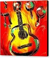 Guitar Canvas Print by Mark Kazav