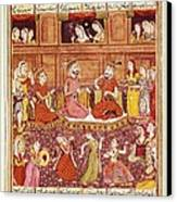 Shahnameh. The Book Of Kings. 16th C Canvas Print by Everett