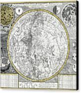 1700 Celestial Planisphere Canvas Print by Daniel Hagerman
