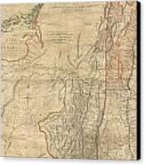 1768 Holland  Jeffreys Map Of New York And New Jersey  Canvas Print