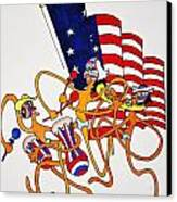 1776 Happy People Canvas Print by Glenn Calloway