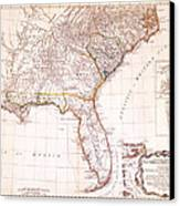 1776 - The Seat Of War In The Southern British Colonies Canvas Print by Kayleigh Green