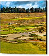 #18 At Chambers Bay Golf Course - Location Of The 2015 U.s. Open Tournament Canvas Print by David Patterson