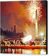 1812 Overture Cannon Flash Washington Canvas Print by Steven Barrows