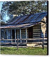1860 Log Cabins Canvas Print by Linda Phelps