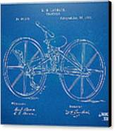 1869 Velocipede Bicycle Patent Blueprint Canvas Print