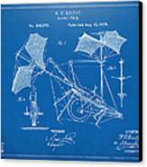 1879 Quinby Aerial Ship Patent - Blueprint Canvas Print by Nikki Marie Smith
