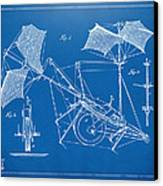 1879 Quinby Aerial Ship Patent Minimal - Blueprint Canvas Print by Nikki Marie Smith