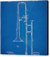 1902 Slide Trombone Patent Blueprint Canvas Print
