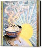 1906 - Quaker Oats Cereal Advertisement - Color Canvas Print