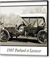 1907 Panhard Et Levassor Canvas Print by Jill Reger