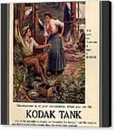 1907 Vintage Kodak Tank Advertising Canvas Print