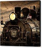 1909 Steam Engine 1909 Canvas Print by Jeanne  Bencich-Nations