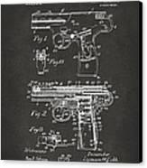 1911 Automatic Firearm Patent Artwork - Gray Canvas Print