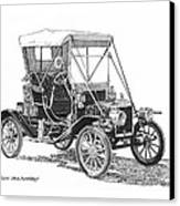 1911 Ford Model T Tin Lizzie Canvas Print by Jack Pumphrey