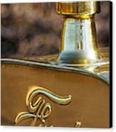 1911 Ford Model T Torpedo 4 Cylinder 25 Hp Hood Ornament  Emblem Canvas Print
