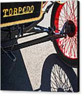 1911 Ford Model T Torpedo Grille Emblem Canvas Print by Jill Reger