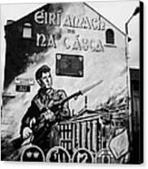 1916 Dublin Easter Rising Commemoration Republican Wall Mural Beechmount Rpg Belfast Canvas Print by Joe Fox