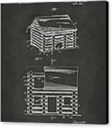 1920 Lincoln Logs Patent Artwork - Gray Canvas Print