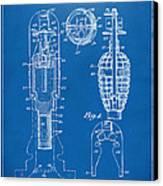 1921 Explosive Missle Patent Minimal Blueprint Canvas Print by Nikki Marie Smith