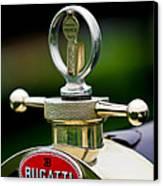 1923 Bugatti Type 23 Brescia Lavocat Et Marsaud Hood Ornament Canvas Print