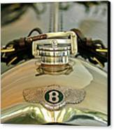 1925 Bentley 3-liter 100mph Supersports Brooklands Two-seater Radiator Cap Canvas Print by Jill Reger