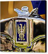 1929 Bianchi S8 Graber Cabriolet Hood Ornament And Emblem Canvas Print