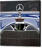 1929 Mercedes Benz S Erdmann And Rossi Cabiolet Hood Ornament Canvas Print