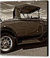 1931 Model T Ford Monochrome Canvas Print by Steve Harrington