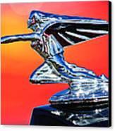 1935 Packard Hood Ornament -0295c Canvas Print