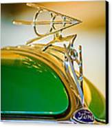 1936 Ford Deluxe Roadster Hood Ornament Canvas Print by Jill Reger