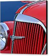 1937 Chevrolet Hood Ornament Canvas Print by Jill Reger