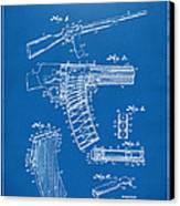 1937 Police Remington Model 8 Magazine Patent Artwork - Blueprin Canvas Print