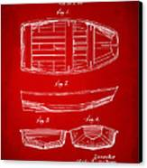 1938 Rowboat Patent Artwork - Red Canvas Print