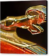 1939 Dodge Business Coupe V8 Hood Ornament Canvas Print by Jill Reger
